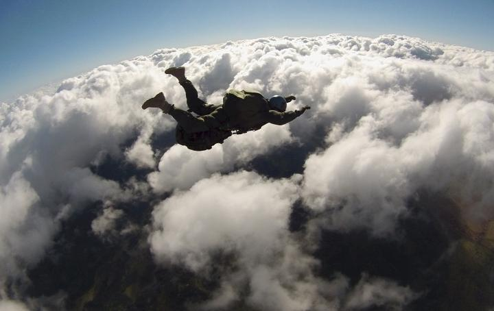Skydiving Stock Image